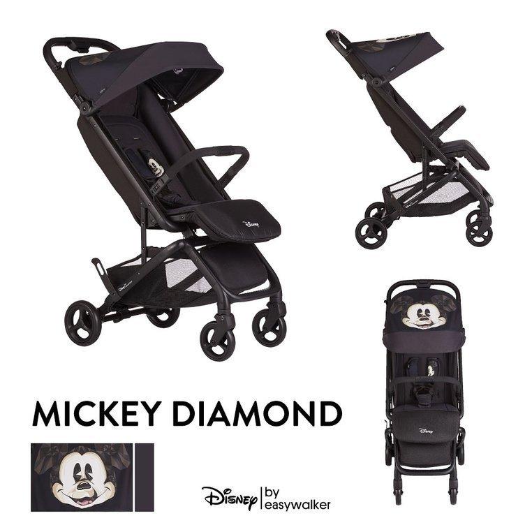 EDG10002 DISNEY by Easywalker Buggy GO Wózek spacerowy z osłonką przeciwdeszczową Mickey Diamond