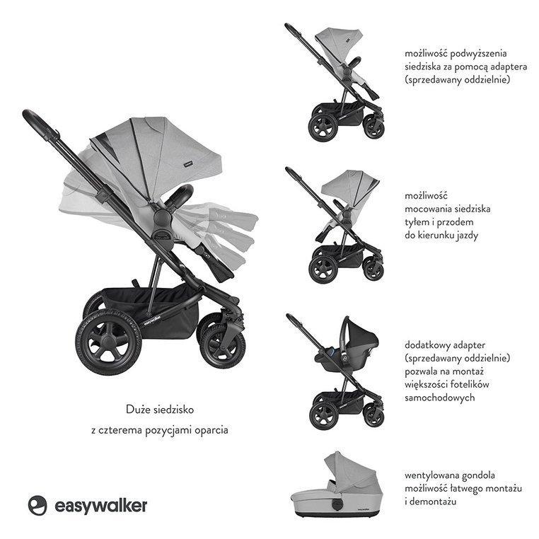 Easywalker Harvey² All-Terrain Wózek głęboko-spacerowy Stone Gray