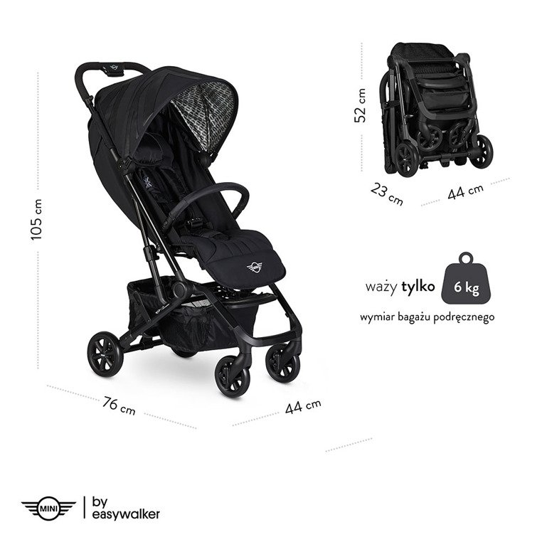 MINI by Easywalker Buggy XS Wózek spacerowy Soho Grey