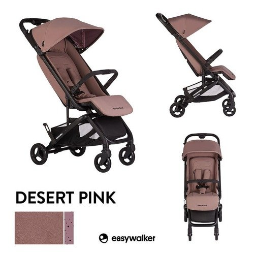 EML10003 Easywalker Miley Wózek spacerowy z osłonką przeciwdeszczową Desert Pink