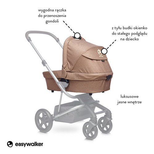 Easywalker Harvey Gondola do wózka Soft Caramel